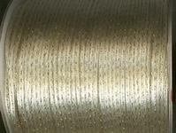 Koord 6  - ecru met gouddraadje 2 mm