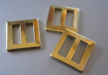 Gold color 15 x 15 mm