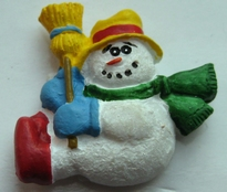 Snowman with Hat 22 x 22 mm