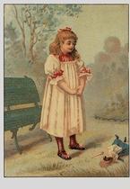 Meisje in het park 15 x 10,5 cm