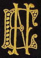 Monogram E.N. 4 x 3 cm