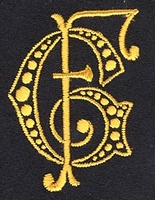 Monogram G.F. 4 x 3 cm