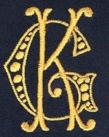 Monogram G.K. 4 x 3 cm