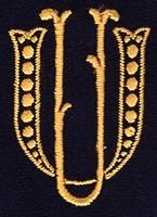 Monogram UU. 4 x 3 cm
