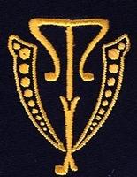 Monogram V.T. 4 x 3 cm