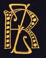 Monogram R.Z. 4 x 3 cm
