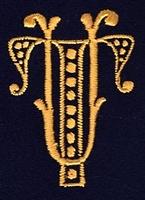 Monogram T.U. 4 x 3 cm