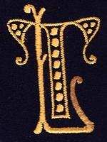 Monogram T.L. 4 x 3 cm