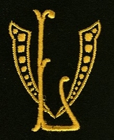 Monogram V.L. 4 x 3 cm