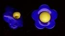 Bloemknoop - blauw 13 mm