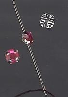 Strass -  lila 5 mm