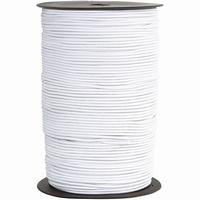 Elastiek - wit (4mtr ) 1 mm