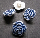 Flower - button 15 mm