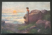 Sonnenuntergang 14 x 9 cm