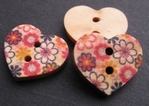Heart - Flower 18 x 15 mm