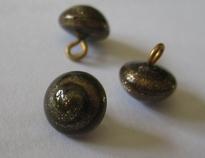Glasknoopje - bruin/goud 8 mm