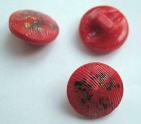 Glasknoop - rood/donkerblauw/goud 13 mm