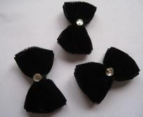 Strikje - zwart 37 mm