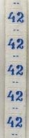 Maatlint - blauw maat 42