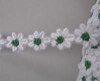 Band - wit met groene kern 14 mm