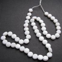 50 witte kralen op streng 7 mm