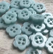 Bloemknoop - l. blauw 10 mm