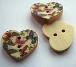 Heart - Flower 18 x 15 mm
