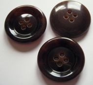 Mantelknoop - bruin 28 mm