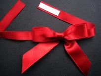 Rood strikje 6 cm breed