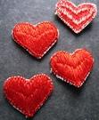 5 Herzen 16 x 18 mm