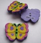 Vlinder - Paars 21 mm