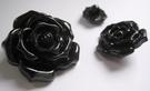 Bloem - Knoop / zwart 32 mm