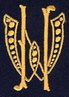 Monogram W.N. 4 x 3 cm
