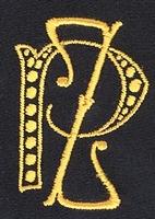 Monogram P.Z. 4 x 3 cm