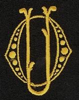 Monogram O.U. 4 x 3 cm