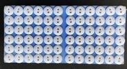 1 kaart met 72 knopen 15mm