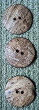 H  - 3 Kokosnootknopen 44 mm