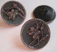 1 Button - Antique Button 22,5 mm