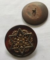 1 Button - Antique Button 40 mm